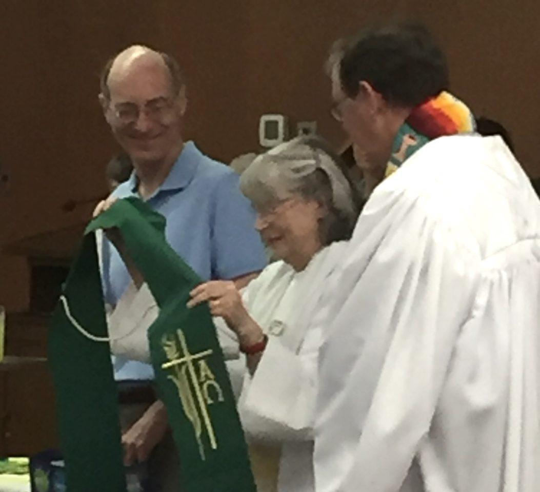 Pastor Sande Receiving Gifts